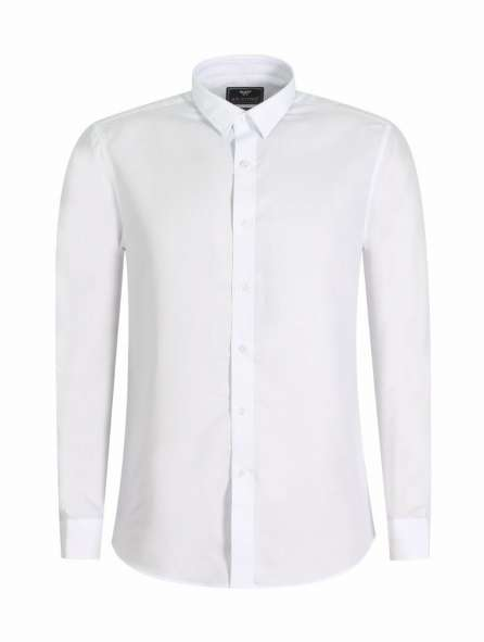 Đồng phục áo sơ mi tay dài màu trắng