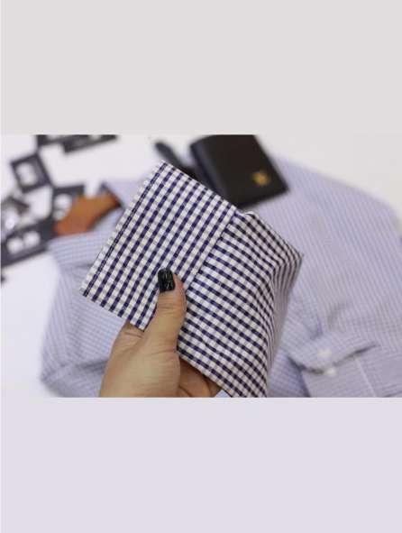 Đồng phục áo sơ mi tay dài sọc caro