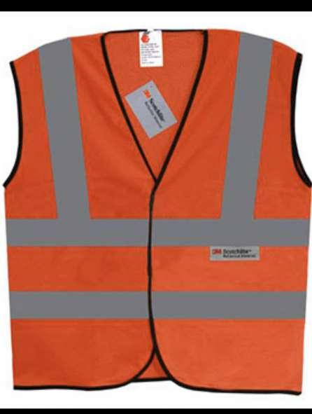 Áo bảo hộ phản quang màu cam
