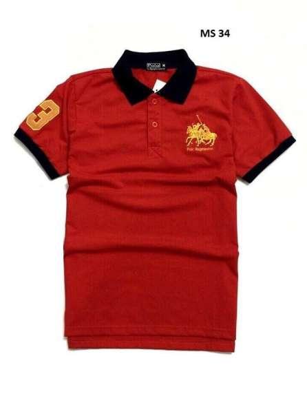 Đồng phục áo thun cổ trụ màu đỏ viền đen