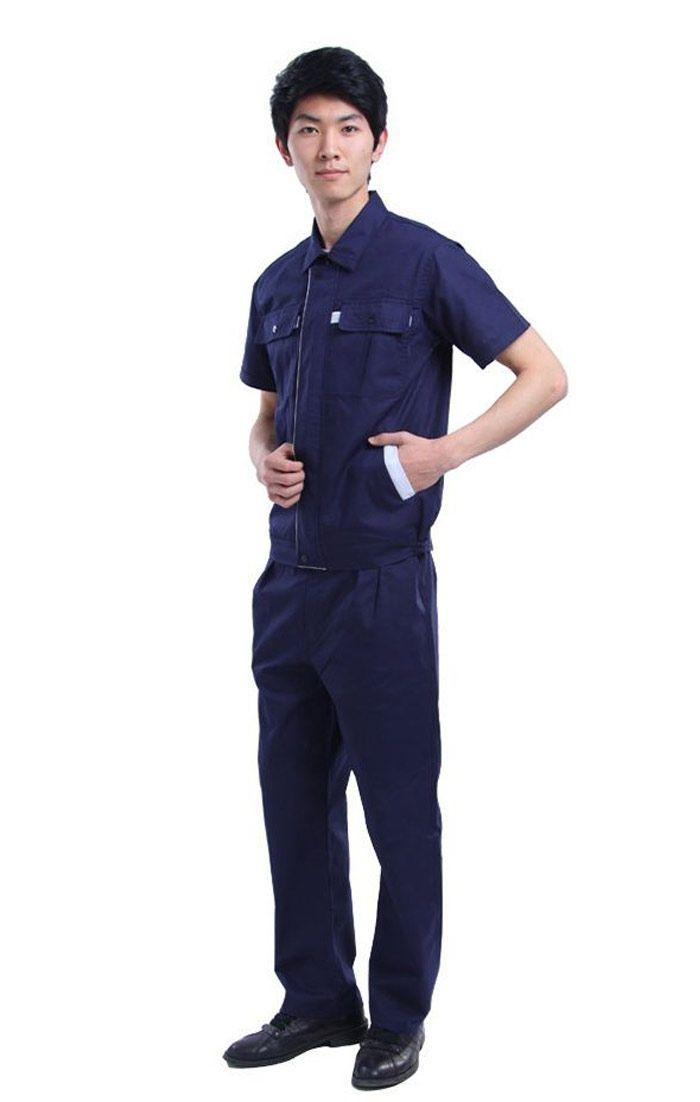 Đồng phục bảo hộ màu xanh đen tay ngắn