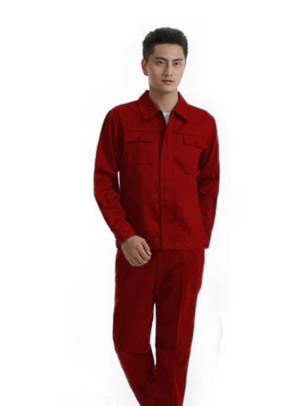 Đồng phục bảo hộ tay dài màu đỏ đô