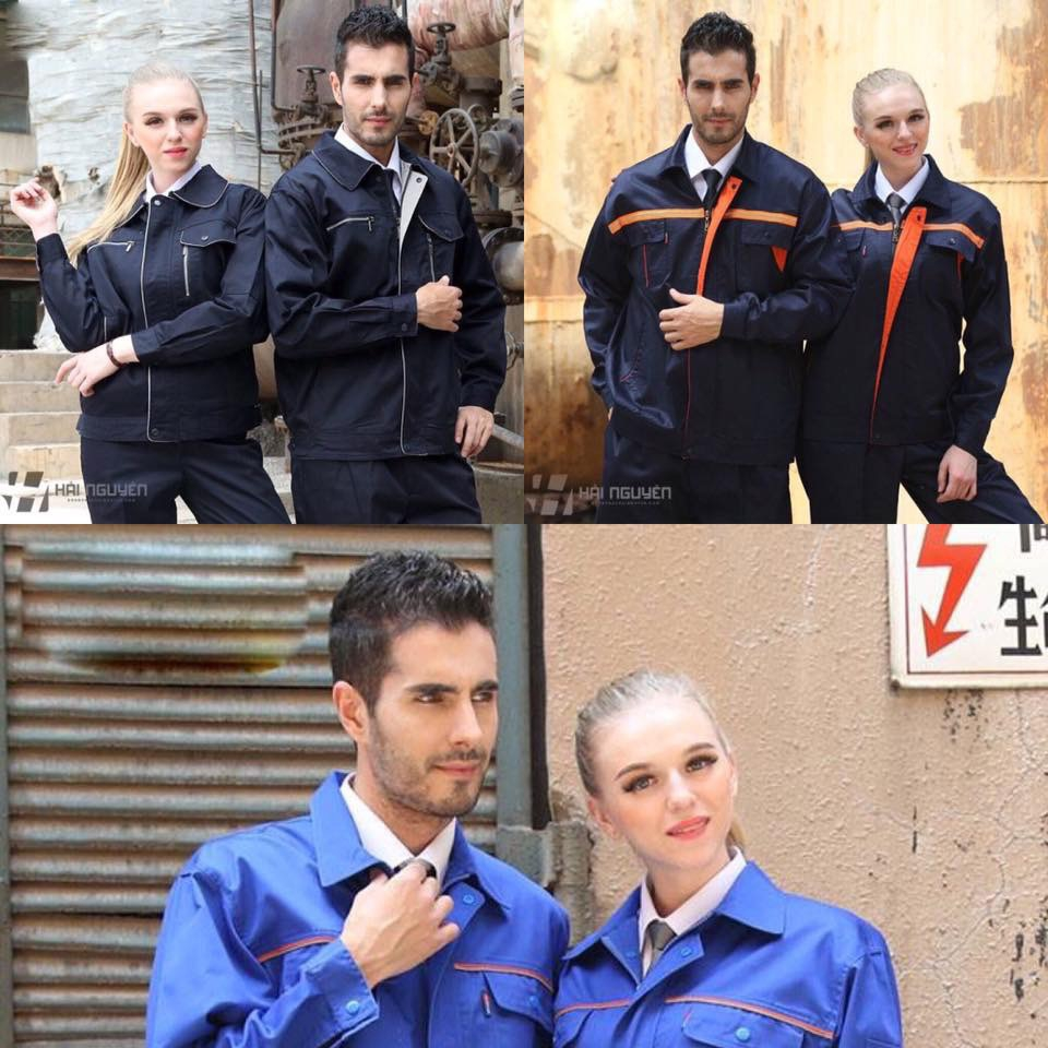 Đồng phục công nhân màu xanh