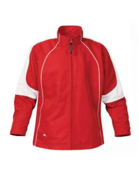 Áo khoác đồng phục màu đỏ phối trắng