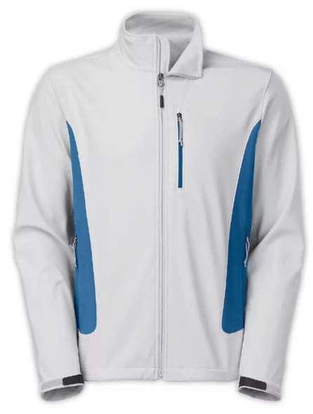 Áo khoác đồng phục màu trắng phối xanh