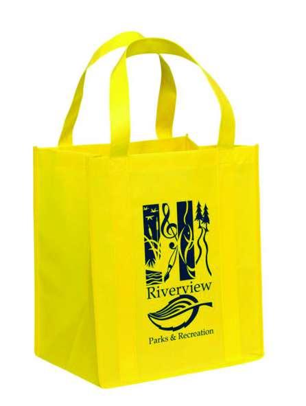 Túi vải không dệt màu vàng chanh