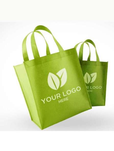 Túi vải không dệt màu xanh đọt chuối in logo
