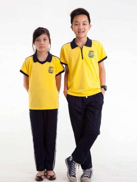 Đồng phục thể dục dành cho học sinh tiểu học